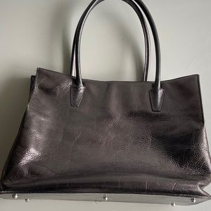 GUC Kenneth Cole NY Black Leather Tote